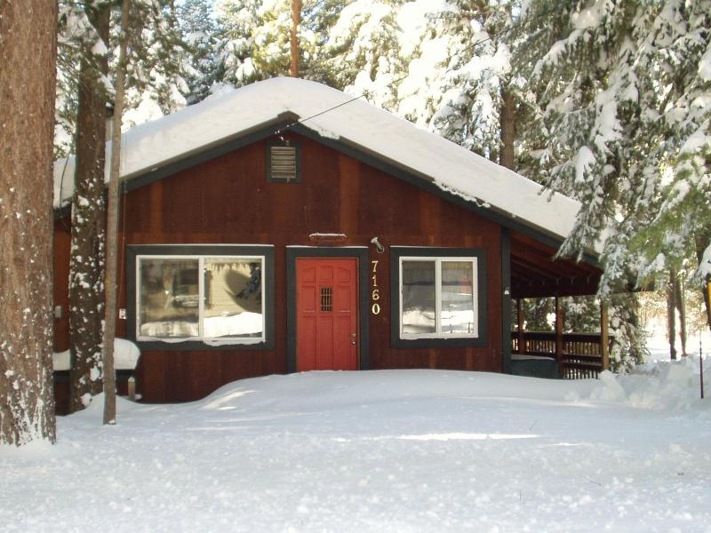 Welcome to Two Morrows Tahoe Cabin. Our driveway is always plowed and free of snow.