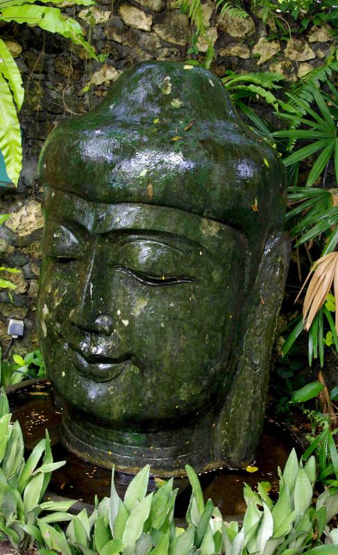the beautiful Buddha...greets you each day and farewells you as you leave, hopefully, to come again.