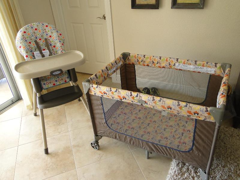 High Chair and Pack n Play provided
