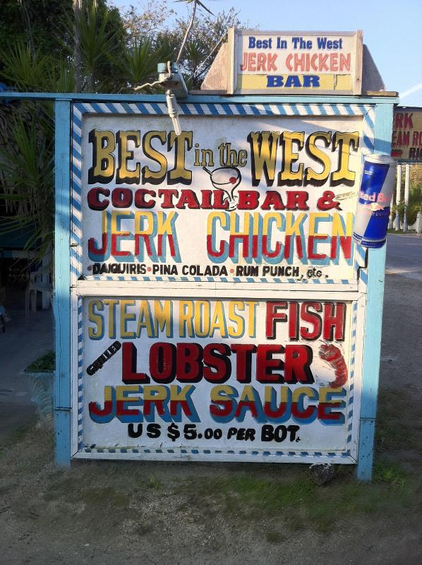 Best in the west Jerk center out front!