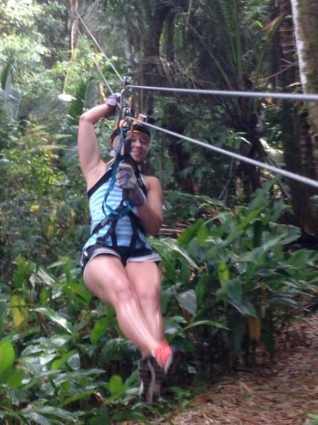 Coyaba Guests at Dennery Rainforest Ziplining Adventure