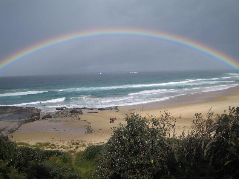 Rainbow over Racecourse beach
