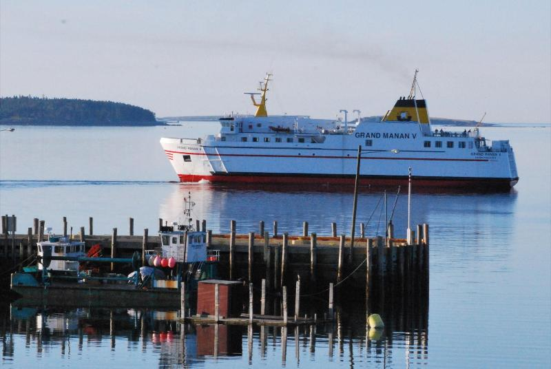 Ferry arriving Grand Manan Island