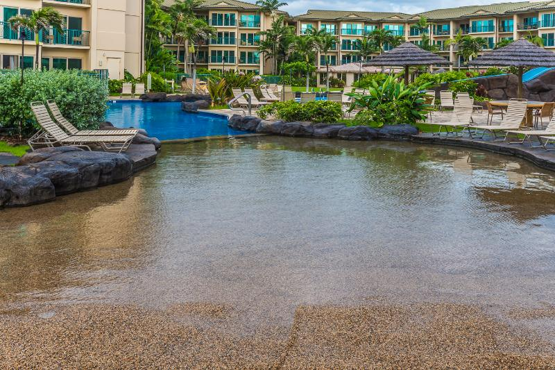 sandy bottom pool