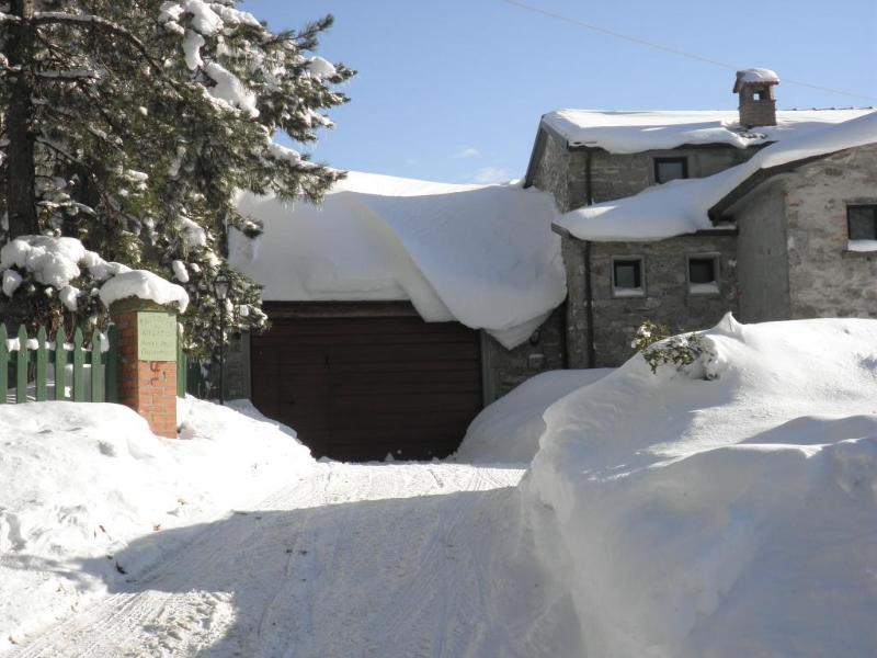 Acesso a garagem com a neve