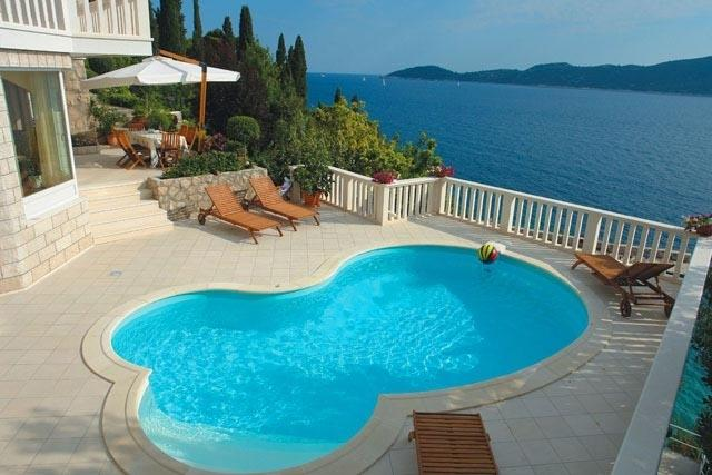 Sea view villa with pool for rent, Trsteno, Dubrovnik