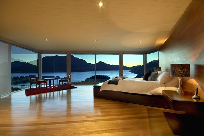 The master bedroom certainly has the wow factor