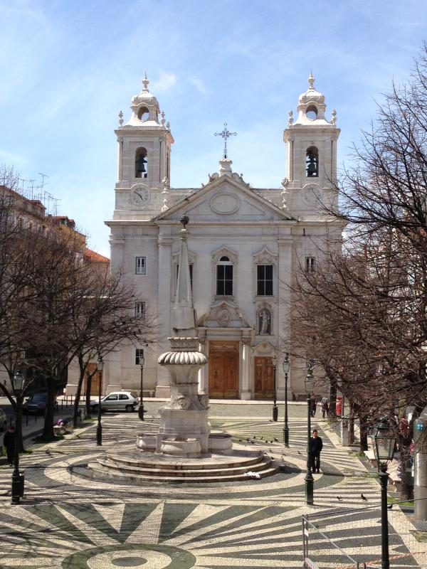 Full frontal view of the Praça de São Paulo and its Church from the apartment windows and balconies.