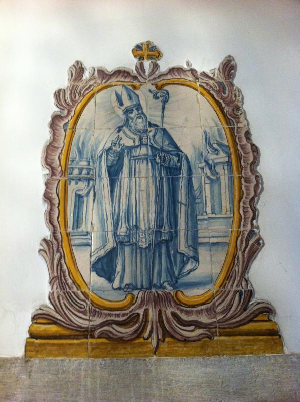 Detail from entrance... original azulejo (tilework) of São Paulo