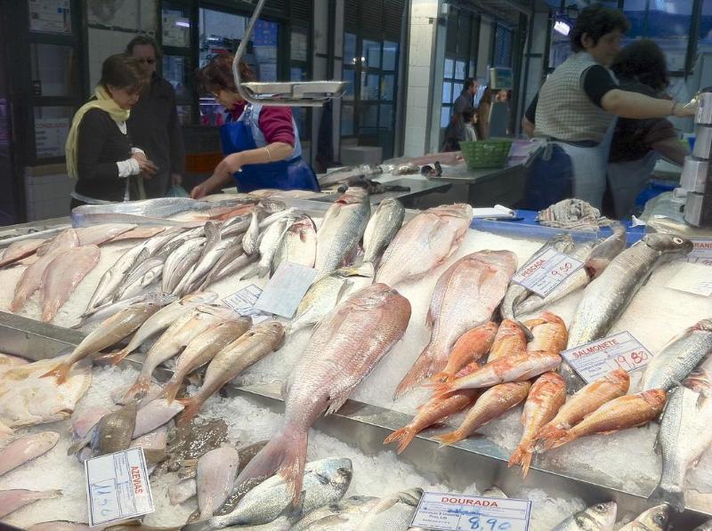 Mercado da Ribeira, great for fish too!  every morning except Sunday