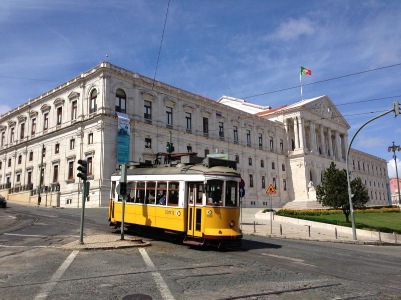 Palácio de São Bento is the Parliament. A majestic building, on a street with many antique shops.
