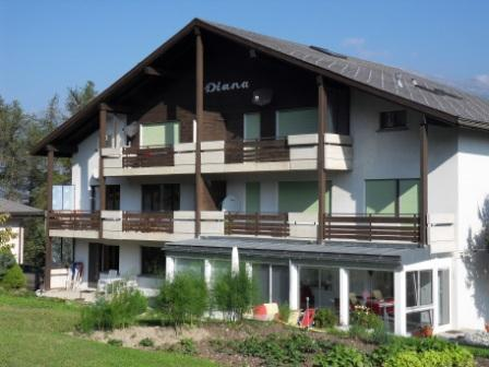 Frontside of Haus Diana in the summer