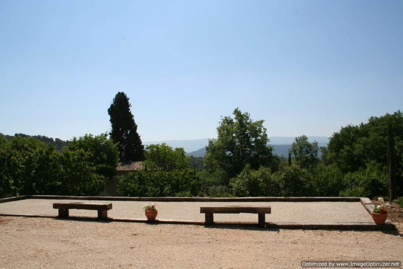 Play boules and enjoy the view