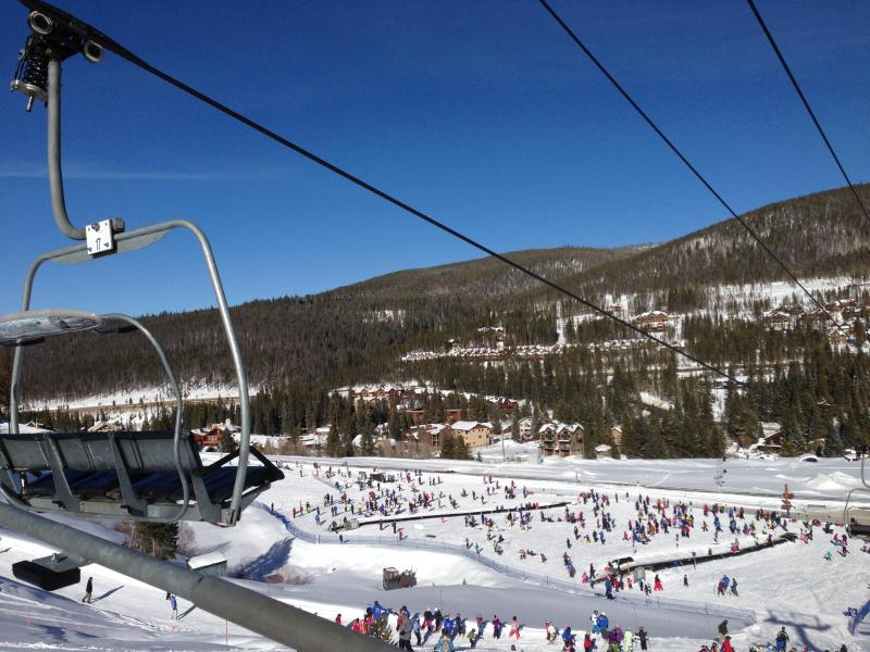 View of resort and complex from lift