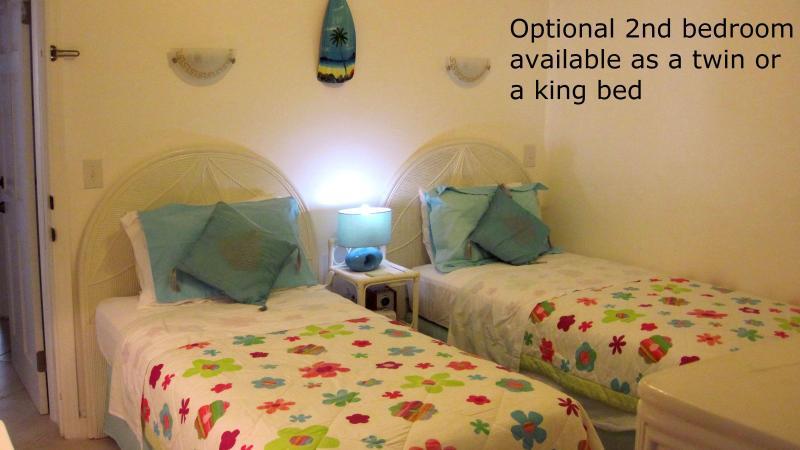 Opcional 2 º dormitorio (puede ser formada como un rey cama si es necesario)