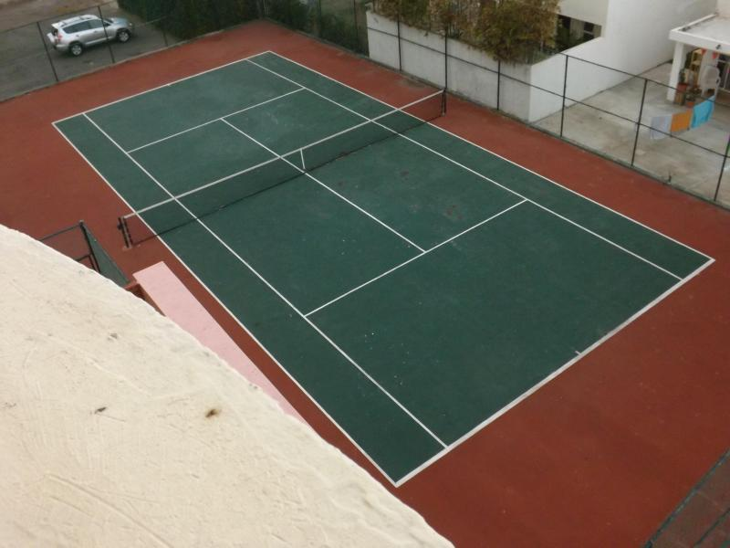 Tennis Court From the Stairwell Between the 3rd and 4th Floor