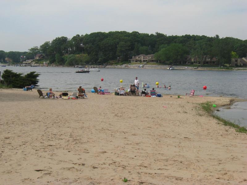 Spring Lake--private sandy beach for association