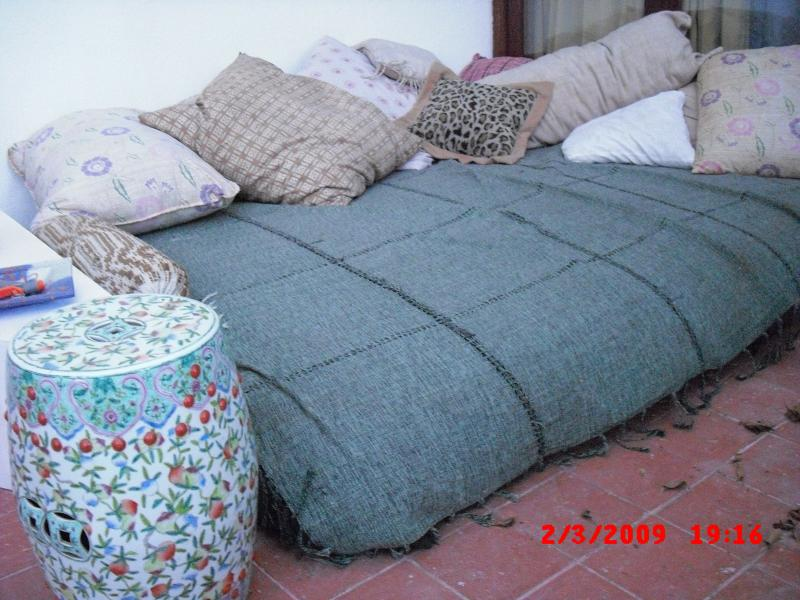 WATERBED ON COVERED PART OF TERRACE