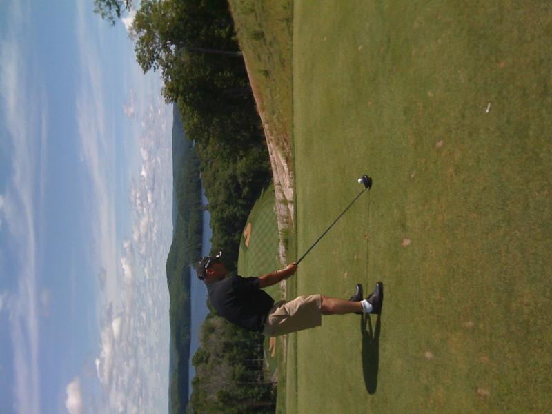 on the 18th hole
