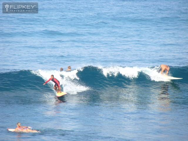Guest Took This Photo of Surfers from Our Lanai