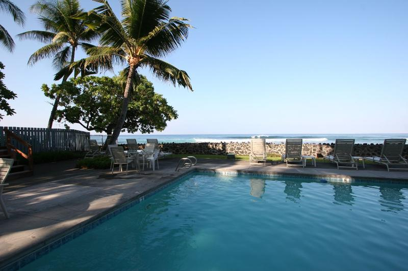 Outdoor Oceanfront Communal Pool. There is also a Hot Tub and Barbeque out of shot