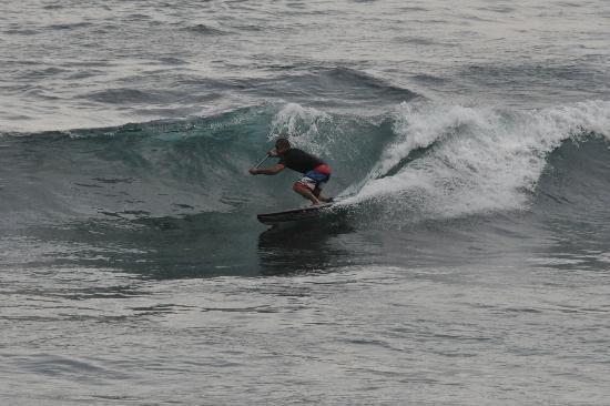 Surfer Enjoying Waves at Banyan Tree - Photo by Someone Else