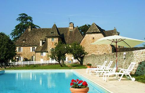 View of chateau from the pool