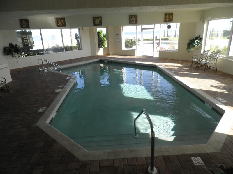 Inside pool with Sauna, Jacouzi. Not pictured is the excercise rm, pool and pingpong areas