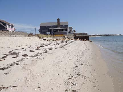 View of house from semi-private beach