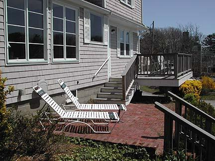 Patio and Deck at the Front of the House