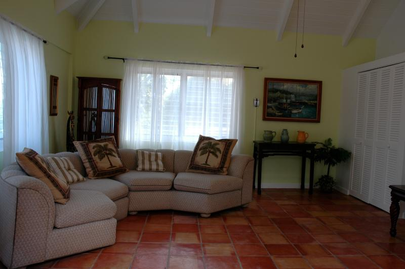 Relax in the family room at Paradise Point, St. Croix, USVI