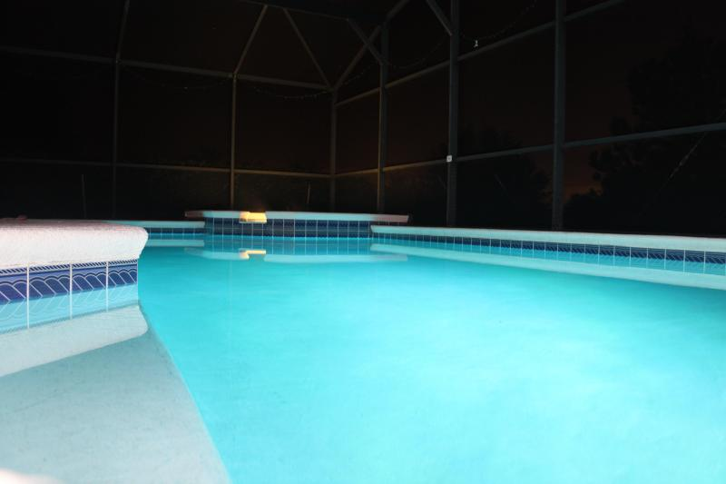 The Pool and Spa at night