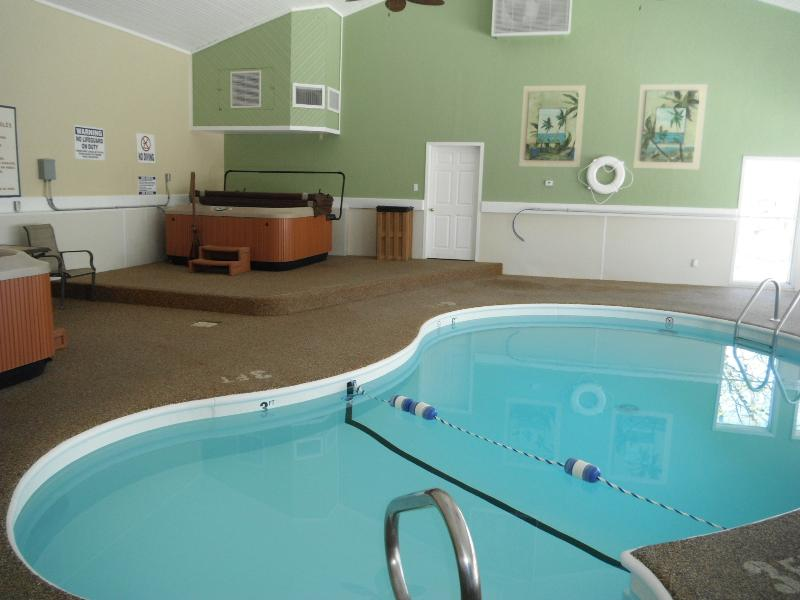 Indoor pool/hot tub. Relax the winter blues away.