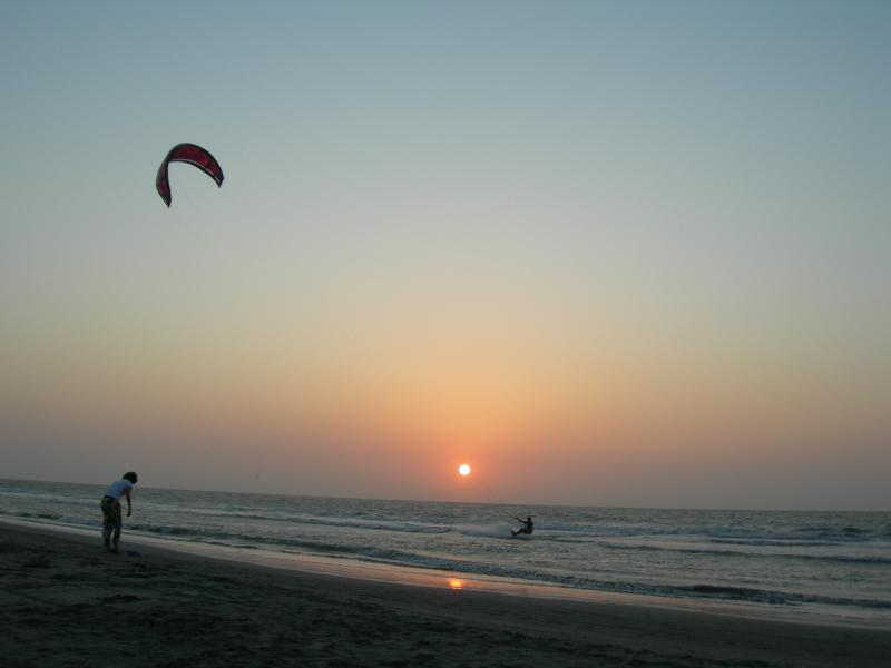 Great kite surfing and spectacular sunsets from your beach.