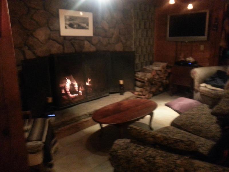Couch vor dem Kamin