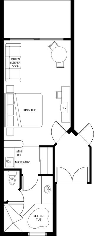 Studio Deluxe Floorplan