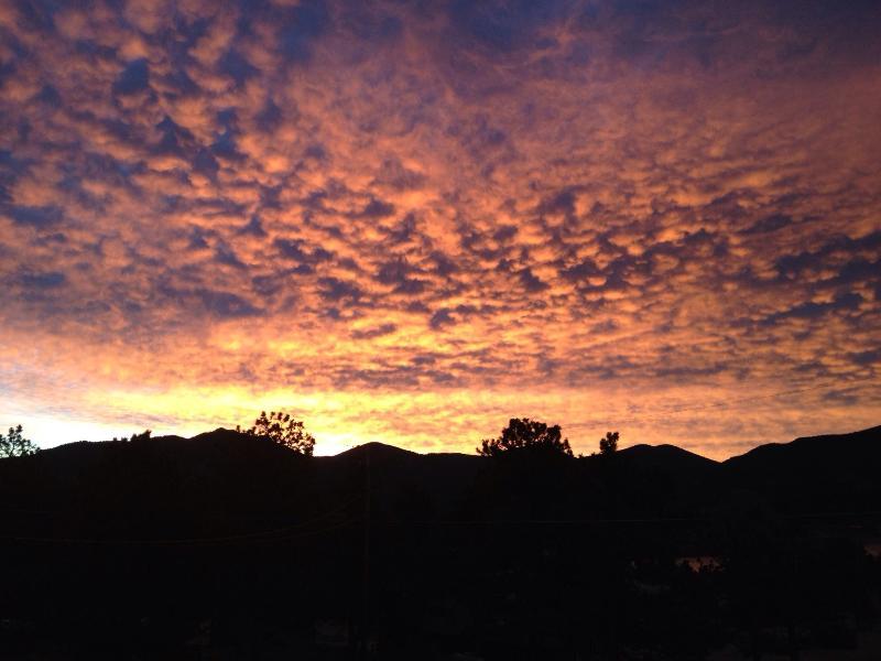 Rocky Mountain lever du soleil sur notre terrasse
