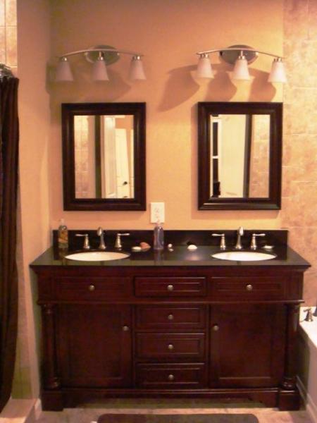 Master salle de bain avec double vasque