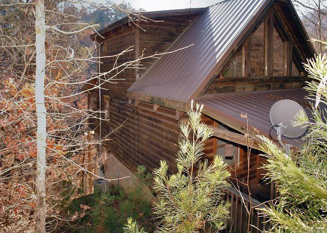 Escondite romántico # 126- Vista exterior de la cabaña