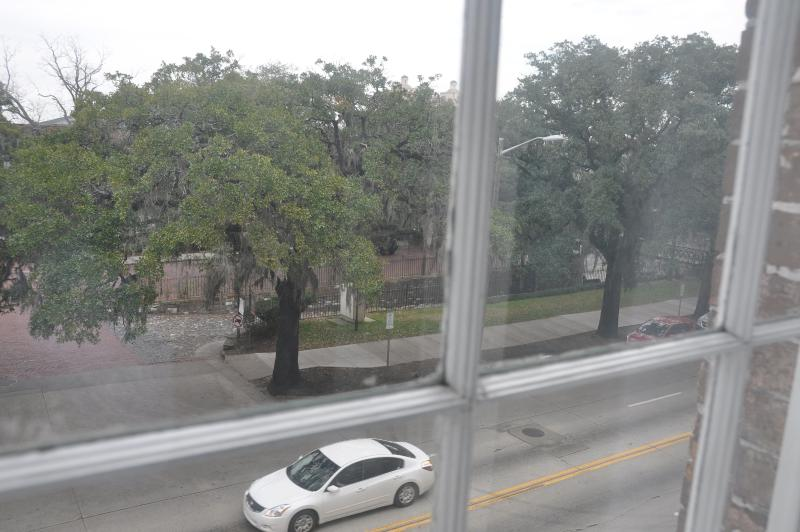 View from the Lodge! Right through those trees is bustling River street!