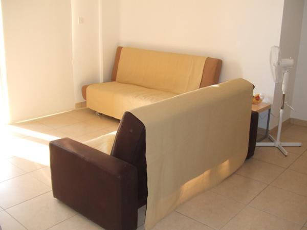 2 x sofás cama en el salón