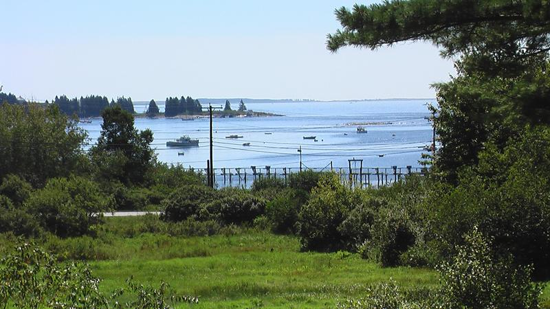 Uitzicht vanaf dek op Cottage #1