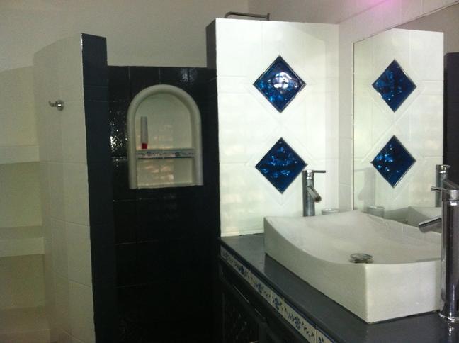 Bath room : Large shower & Toilets