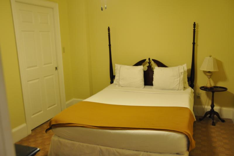 Suite 2 Bedroom 1 with Queen bed and TV included.
