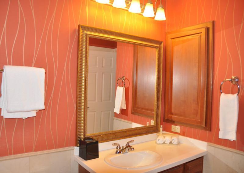 Full Bath 2- Plenty of light and mirror.