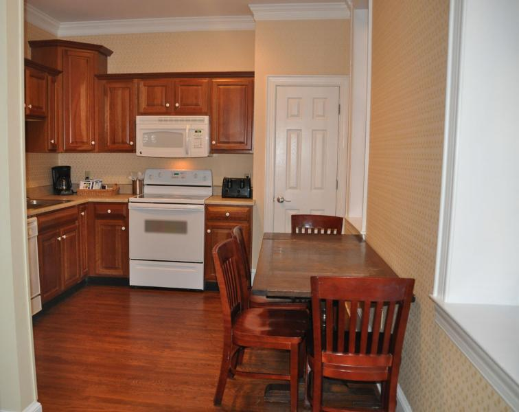 Feel free to cook in and dine in with our stocked kitchen.