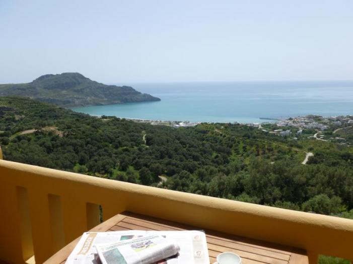 Panoramic view Of Plakias Bay