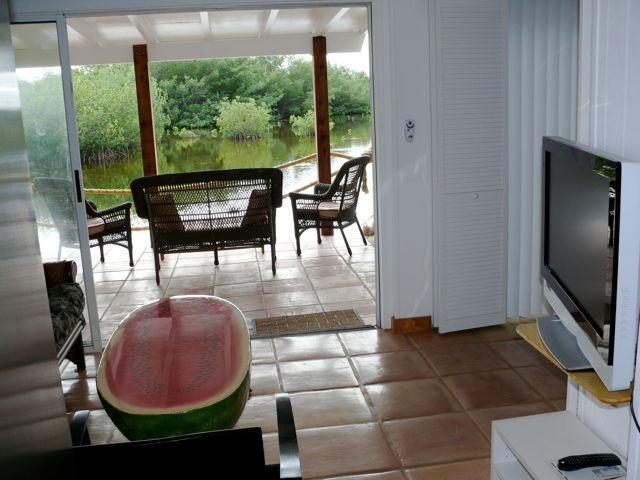 Living room & uteplats