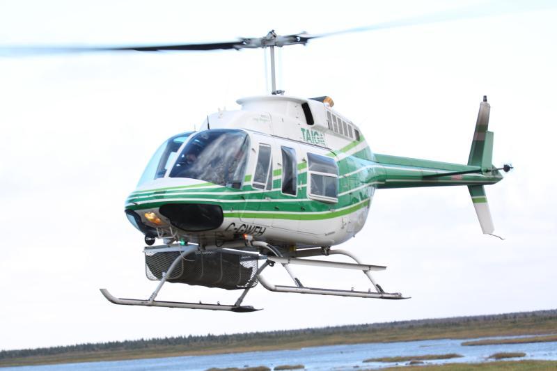 Bell LongRanger Coming in for a Landing