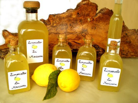 Limoncello made at Villa Mexicana.